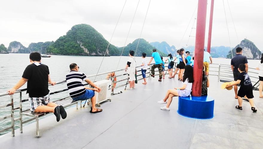 tàu thăm quan vịnh hạ long - saomaitourist
