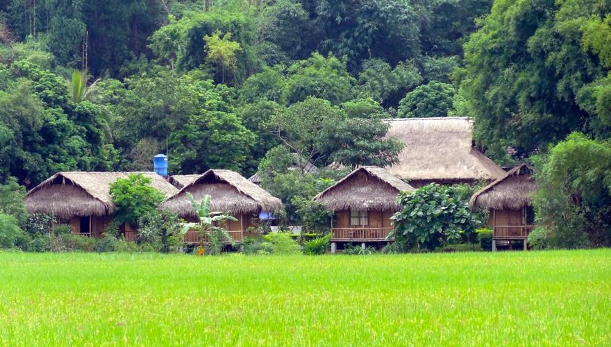 bungalow ở Mai Châu - mai chau farmstay