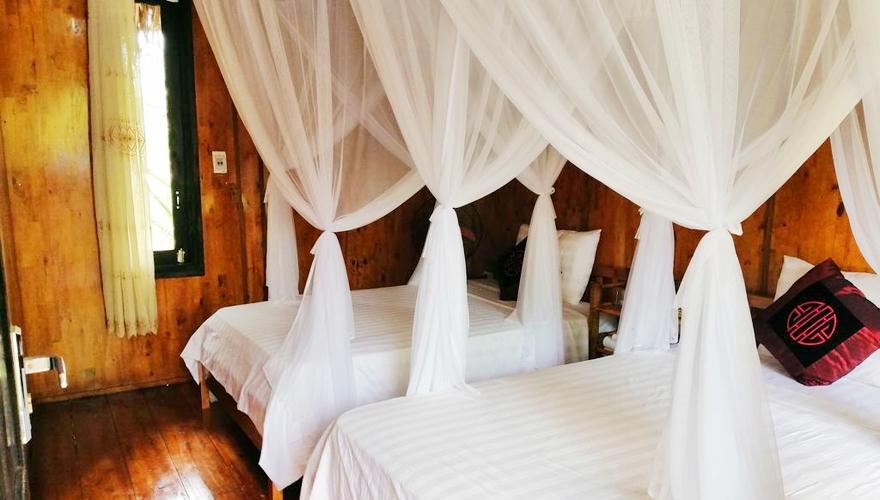 phòng riêng 2 giường đơn - mai châu farmstay