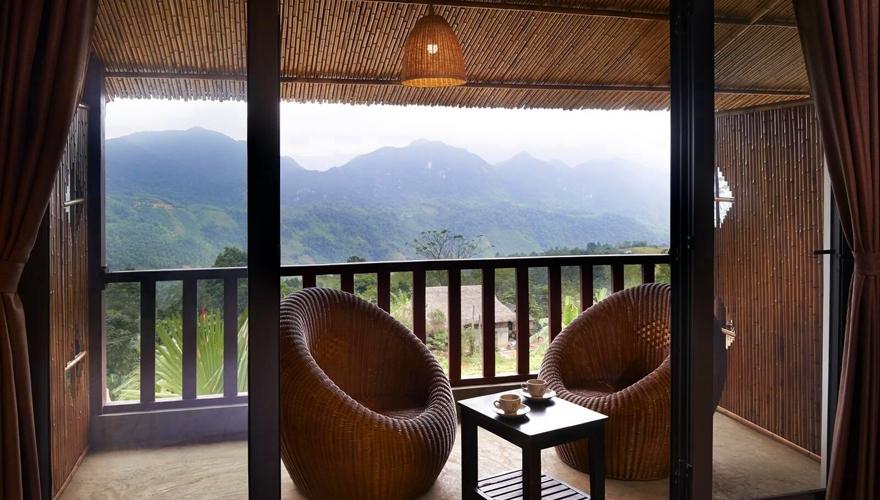 Pu Luong Eco Garden- ban công phòng deluxe