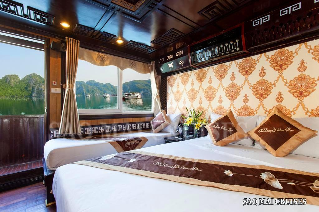 Du thuyền 3* ghép khách ngủ đêm trên vịnh Hạ Long